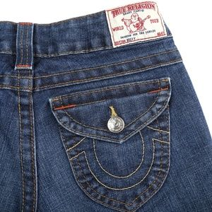 True Religion Becky Flap Pocket Boot Cut Jeans